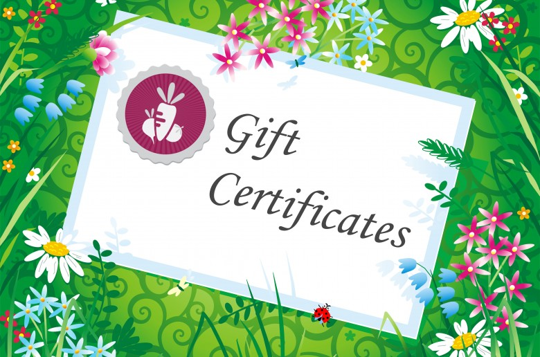 Gift Certificates for Gardening Workshops