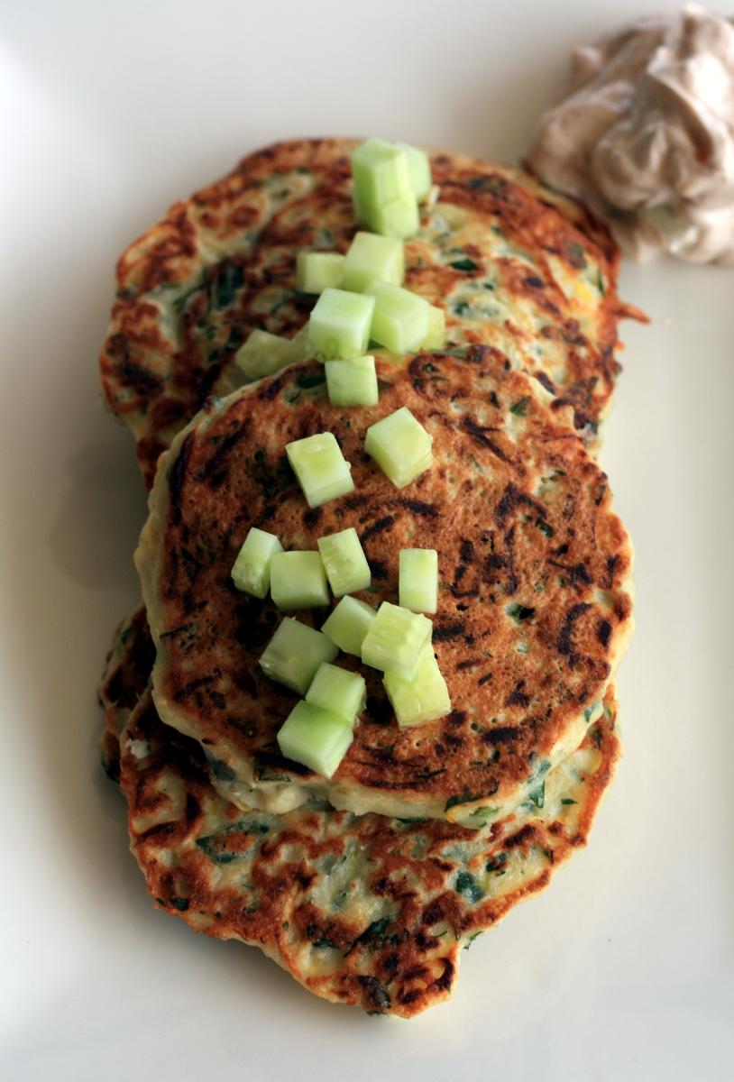Zucchini Basil Pancakes