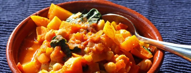 Moroccan Spice Chickpea & Squash Stew