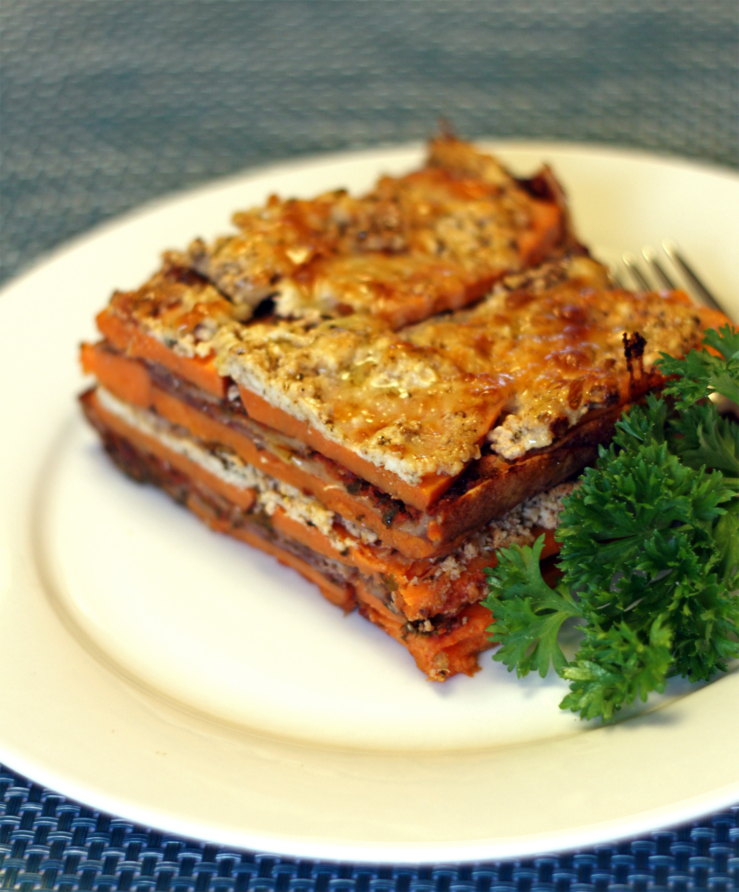 Quick Sweet Potato Lasagna (GF, Vegetarian)