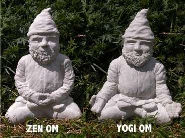 gnomes meditating